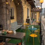 ogródek przy restauracji