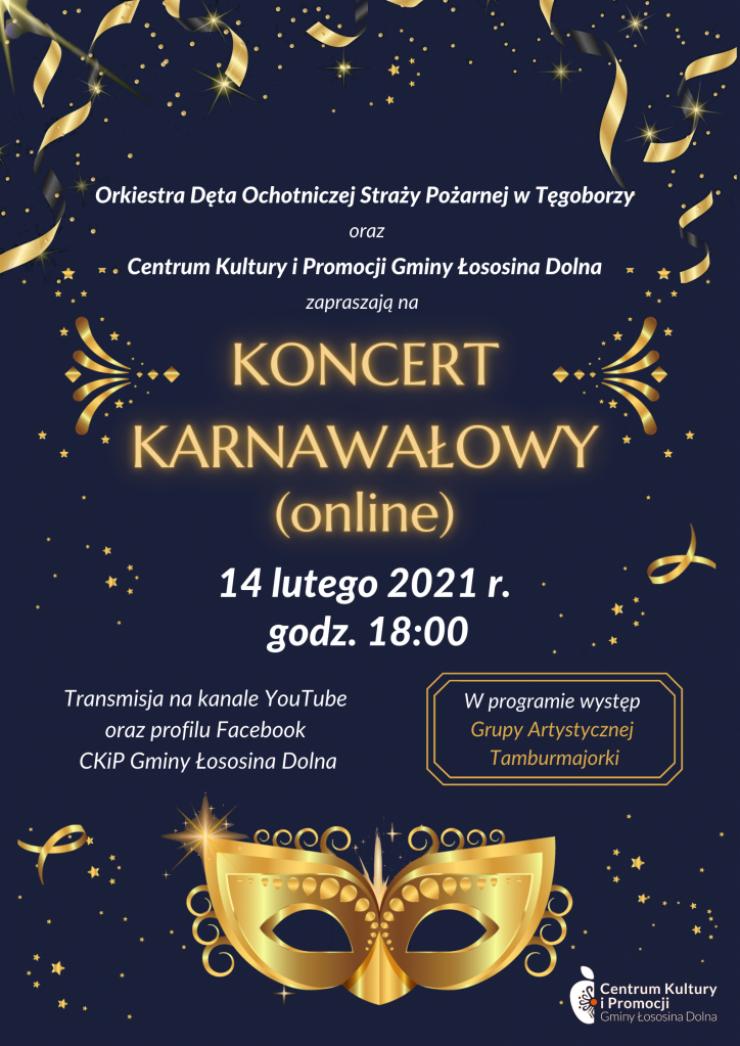 Plakat promujący koncert karnawałowy