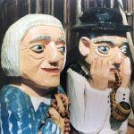 rzeźba ludowa babcia i dziadek