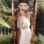 Rzeźba drewniana Jezusa Frasobliwego