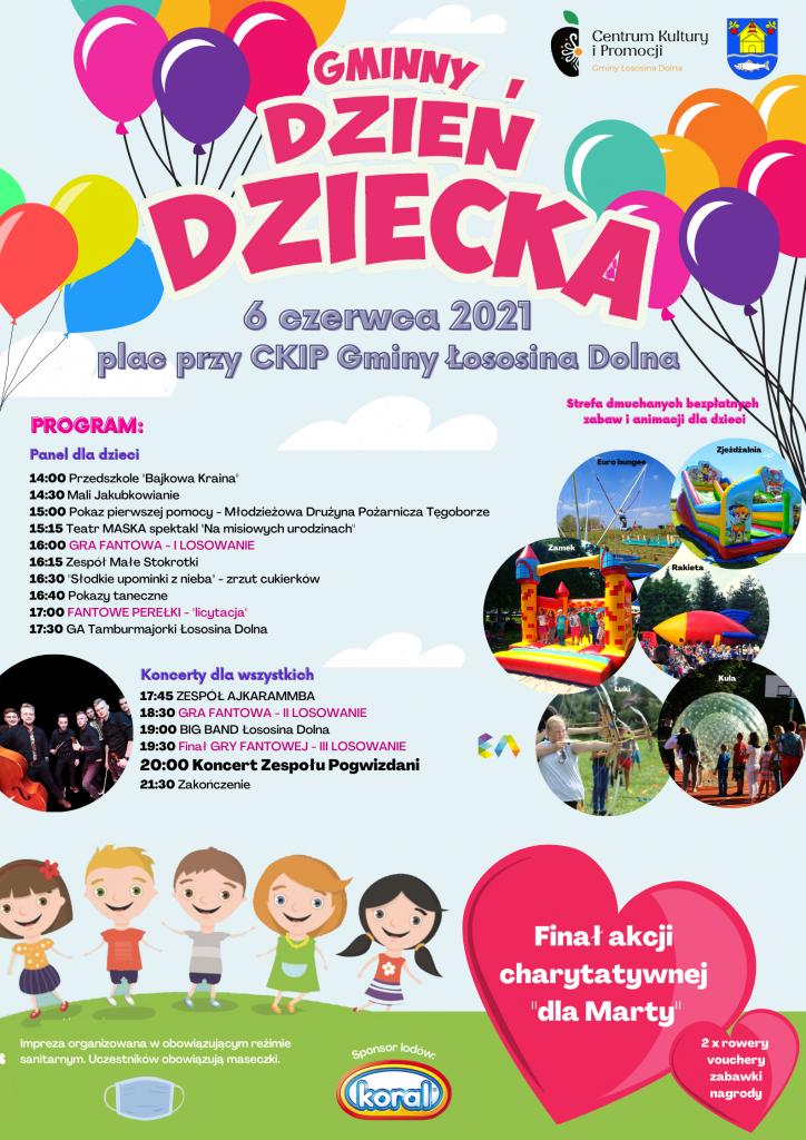 plakat gminny dzień dziecka