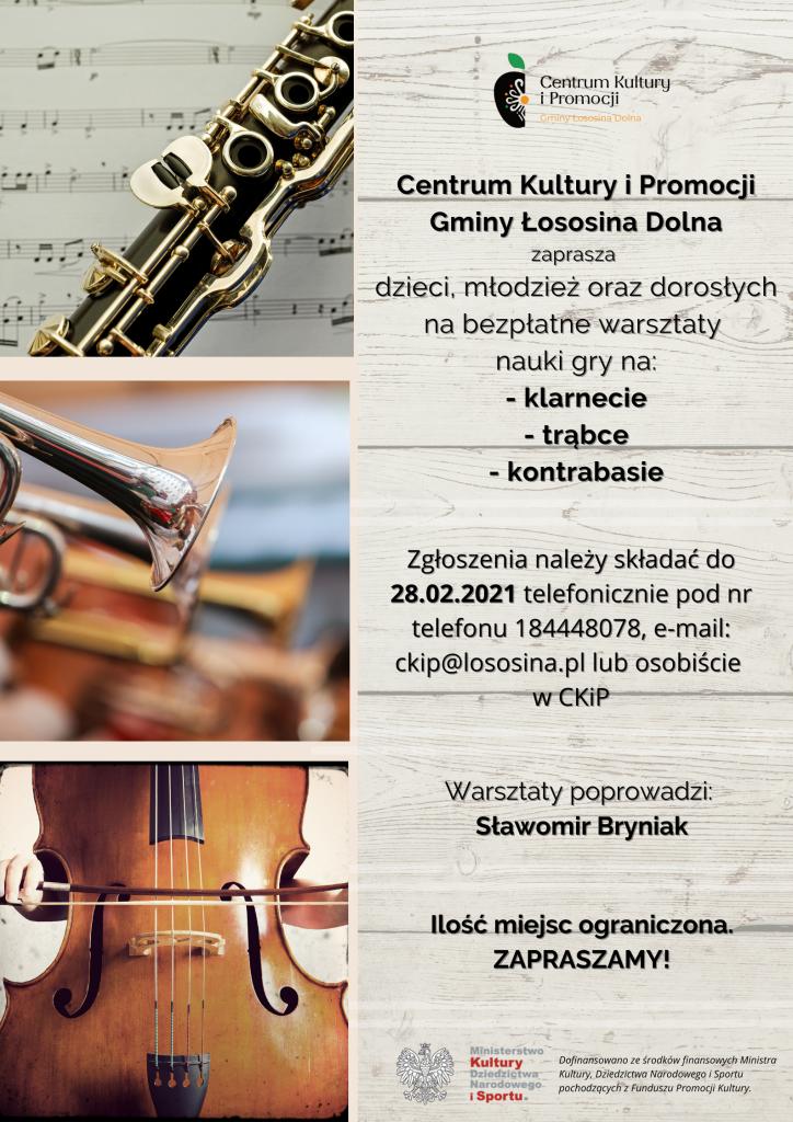 plakat informujący o projekcie pn. mistrz tradycji - muzyka po lachowsku